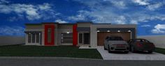 4 Bedroom House Plan - My Building Plans South Africa 3d House Plans, 4 Bedroom House Plans, Modern House Plans, Modern House Design, My Building, Building Plans, My Dream Home, Dream Homes, Open Plan Living