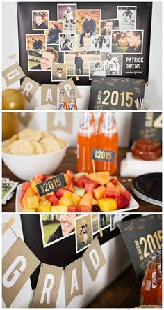These classic graduation party ideas will help inspire you from graduation announcements to graduation photo display ideas! #graduationpartyideas