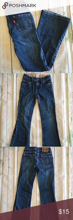 "Levi's girls Stretch Flare 517 Jeans Sz 10 Slim Levi's Women's Stretch Flare 517 Dark Wash Jeans Sz 10 Slim. Inseam 29"" Levi's Bottoms Jeans"