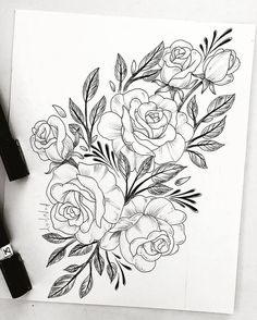 drawing tattoo flower tattoo sleeve tattoos flower tattoos for women ...