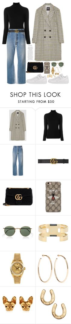 """""""Sans titre #1139"""" by janewithouttarzan ❤ liked on Polyvore featuring La Fileria, RE/DONE, Gucci, Ray-Ban, Isabel Marant, Rolex and Jennifer Fisher"""