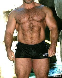 Muscular shorts-This body needs no face!