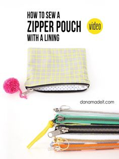 How to sew a Lined Zipper Pouch---it's easier than you think! | MADE