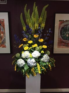 Venue Decorations | Vickys Flowers - Wedding Flower service with style and creativity | East Calder , West Lothian Flower Service, Yellow Wedding Flowers, Creativity, Decorations, Wreaths, Halloween, Style, Swag, Door Wreaths
