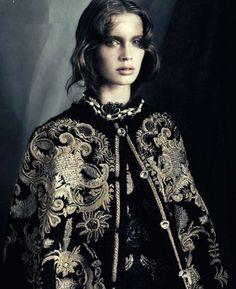 (The original inspiration picture for Ms. Anarch Toreador.)  Marine Vacth, Vogue Italia
