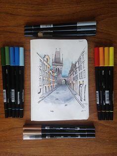 """Képtalálat a következőre: """"urban sketch 1 point perspective"""""""