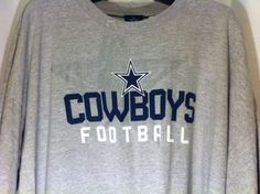 DALLAS COWBOYS AUTHENTIC APPAREL ELITE LOGO ADULT GRAY  T-SHIRT Cowboys Football, Dallas Cowboys, Nfl Team Apparel, Graphic Sweatshirt, T Shirt, Gray, Logo, Sweatshirts, Fashion