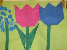 Thema lente kleuters | Juf Anke lesidee Spring Crafts, Flag, School, Art, Holland, Art Background, Kunst, Science, Performing Arts