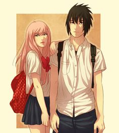 Highschool sweethearts by DYMx.deviantart.com on @DeviantArt