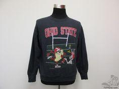 Vtg 90s Warner Brothers Ohio State Buckeyes Sweatshirt sz S Taz Bugs Bunny Daffy #Unknown #OhioStateBuckeyes  #tcpkickz