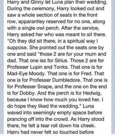 If Luna planned Harry & Ginny's wedding.  I love this so much, I want it to be real