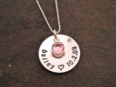mom necklace - first mother's day present? <3