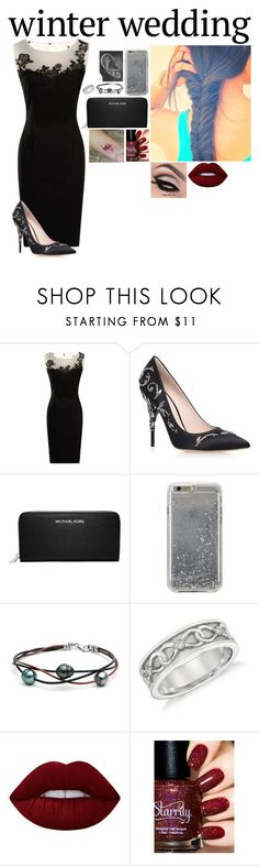 """Winter Wedding// Untitled #294"" by victoria-rose-a ❤ liked on Polyvore featuring RALPH & RUSSO, MICHAEL Michael Kors, Agent 18, Blue Nile and Lime Crime"
