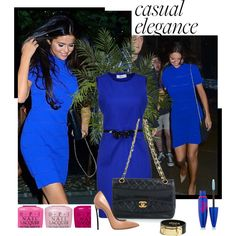 """Selena Gomez in Stunning Cobalt Dress"" by jewelryrecipe on Polyvore"