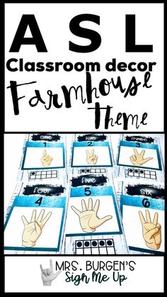 American Sign Language Classroom decor will keep your students engaged in an interactive language environment. Teacher Toolbox Labels, Up Teacher, Teachers Toolbox, Sign Language Alphabet, American Sign Language, Language Arts, Special Education Classroom, Elementary Education, Classroom Language
