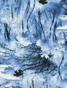 Scenic Snowfall Quilt Fabric Winter Snow Scene Premium Cotton Timeless Treasures #TimelessTreasuresFabric