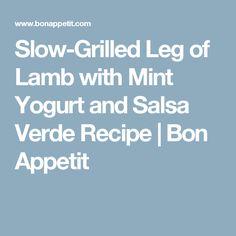 Greek Lamb Kabobs With Yogurt-Mint Salsa Verde Recipe — Dishmaps