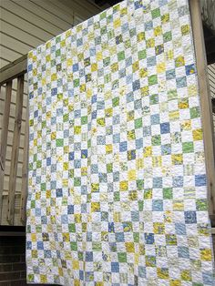 postage stamp quilt. I really like this but man, that's a LOT of cutting and sewing!!!