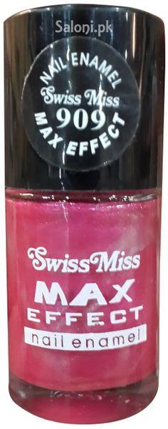 SWISS MISS MAX EFFECT NAIL ENAMEL NO 909 Saloni™ Health