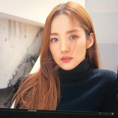 Park Min Young, Hot Girls, High Neck Dress, Turtle Neck, Actresses, Pretty, Sweaters, Beautiful, Minho