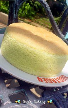 EASY SPONGE CAKE RECIPE // 3 eggs, 1/8 t cream of tartar, 55g sugar, 65g cake flour, 20 ml oil or butter, 30 ml milk