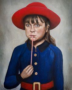 Violet Beauregarde - Willy Wonka Painting - Portrait Print