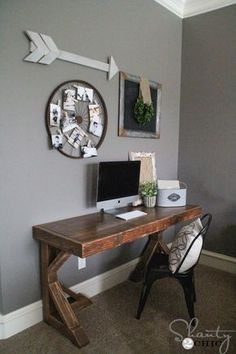 DIY Desk for $70 - Shanty 2 Chic #DIYHomeDecorWood