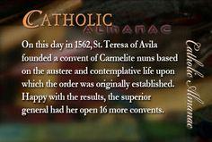 #SaintTeresaofAvila #Carmelite #prayforus