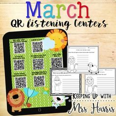March+QR+Code+Listening+CenterPlease+be+sure+to+download+the+new+updated+version!++Videos+have+been+updated+for+February+and+March!Ready+to+make+the+month+of+March+fun+and+engaging???+Make+your+March+reading+center+visual,+engaging+and+fun+with+these+12+March+themed+books.