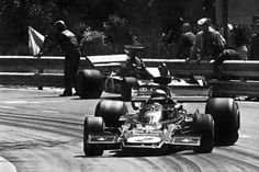 Ronnie Peterson in the Lotus 72