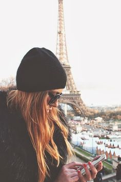 beanie + oversized sunnies || this is me everyday. just not in Paris. When will people realize how FASHIONABLE I am?? ;)
