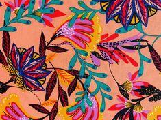 Jungle Leaf Print Nursery Cotton Fabric Decor Cushion Quilting Fabric Upholstery Fabric Decor, Fabric Crafts, Jungle Flowers, Tropical Fabric, Jungle Nursery, Jungle Print, Quilting Fabric, Leaf Prints, Printing On Fabric