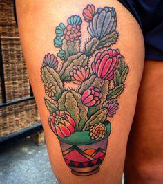 Cactus Tattoo #colortattoo #tattoo