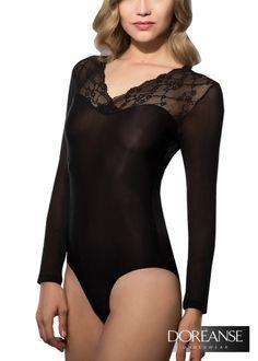 DA12447 - Sinnlicher Damen Body mit #Spitze und #Tüll. Alle Bodys auf doreanse-shop.com