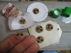 1:6 dollhouse miniature oatmeal raisin cookies by TheDollyCottage