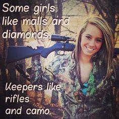Keepers like rifles and camo