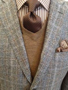 Norton Ditto Private Label Sport Coat, Private Pocket Square, Peter Millar Sweater Vest, Altea Tie, Robert Talbott Dress Shirt.