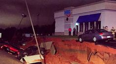 Strange News Headlines: Mysterious giant sinkhole in Mississippi swallows at least 15 vehicles at IHOP