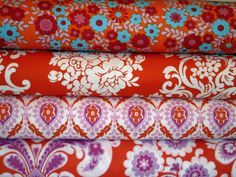orange floral bundle by bumbletees on Etsy