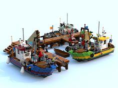 River Fishing Tips Used Fishing Boats, Ocean Fishing Boats, Boat Drawing Simple, Legos, Center Console Fishing Boats, Lego Ship, Fishing Photography, Lego Photography, Lego Modular