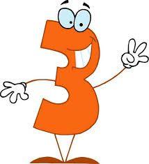Resultado de imagen de numero 3 en orange
