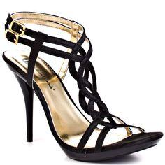 652f73a771d2a Michael Antonio s Black Riordan Sat - Black Satin Schöne High Heels