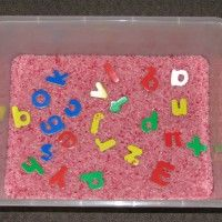 Making learning your alphabet fun by searching for alphabet letters in a sensory tub with strawberry scented and pink coloured rice. This sensory play activity is a great game to motivate kids to learn their alphabet. Alphabet Worksheets, Alphabet Activities, Preschool Activities, Alphabet Letters, Printable Alphabet, Wooden Letters, Sensory Tubs, Sensory Boxes, Lyrics