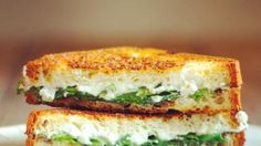 Truffled Ricotta and Arugula Grilled Cheese-creamy ricotta + peppery arugula make this grilled cheese a myriad of flavors