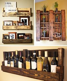 42 New Ways to Recycle Wood Pallets. – Repurposing Pallets – 42 New Ways to Recycle Wood Pallets. – Repurposing Pallets – – Design Garden Sofa's – Pallet Crafts, Diy Pallet Projects, Home Projects, Pallet Ideas, Pallet Designs, Craft Projects, Whisky Regal, Pallet Wine, Pallet Bar