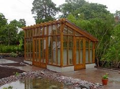 Modern Wooden Greenhouse This Actually Looks Pretty I Think We Could Do A Smaller