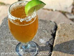 Chelada: Refreshing cocktail with beer, lime, and salt. Perfect for summer.  www.home-everyday.com