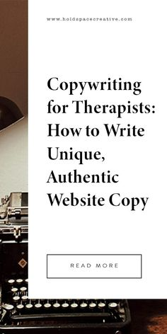 Writing copy is a skill that anyone can learn, and in fact, I believe therapists have the potential to be among the best copywriters. But when it comes to writing to connect with potential clients, most therapists freeze up. What Makes You Unique, Try To Remember, Start Writing, Research Paper, Copywriting, Book Characters, Business Planning, Freeze, Read More