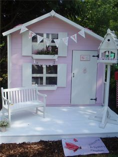 The Mad Dash 4000 Peardrop Playhouse Collection - Wooden Playhouses - Garden Buildings Direct Playhouse Decor, Playhouse Interior, Outside Playhouse, Girls Playhouse, Backyard Playhouse, Build A Playhouse, Playhouse Ideas, Cubby Houses, Play Houses