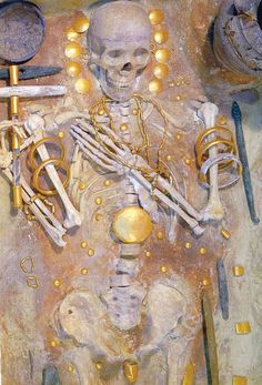 While digging to put in electrical wires near Bulgaria's Black Sea resort, a lost civilization was found that predates most well known civilizations in Egypt, Mesopotamia. This was a grave found dating to 5000 BC. The gold artefacts were older and richer than any others ever discovered anywhere. Read more about it